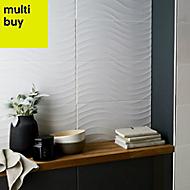 Catanzaro White Gloss Ceramic Wall tile, (L)500mm (W)250mm, Sample