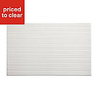 Salerna White Gloss Ceramic Wall tile, (L)250mm (W)400mm, Sample