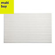 Salerna White Gloss Ceramic Wall tile, (L)250mm (W)400mm, Sample