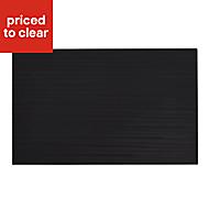 Salerna Black Gloss Ceramic Wall tile, (L)250mm (W)400mm, Sample