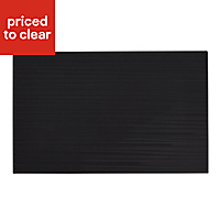 Salerna Black Gloss Ceramic Wall tile, (L)250mm (W)400mm, Sample