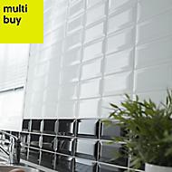 Trentie White Gloss Ceramic Wall tile, (L)200mm (W)100mm, Sample