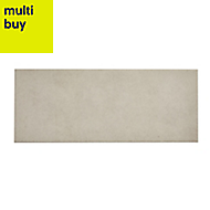 Konkrete White Matt Ceramic Wall tile, (L)500mm (W)200mm, Sample
