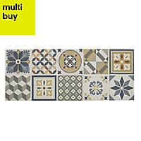 Konkrete Multicolour Matt Ceramic Wall tile, (L)500mm (W)200mm, Sample