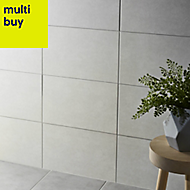 Cimenti Light grey Matt Ceramic Wall tile, (L)400mm (W)250mm, Sample