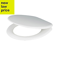 Cooke & Lewis Bakau White Standard close Toilet seat
