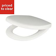 Cooke & Lewis Valtos White Top-Fix Soft close Toilet seat
