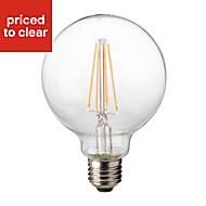 Diall E27 8W 1055lm Globe LED Filament Light bulb