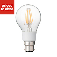 Diall B22 7W 810lm Classic LED Dimmable Filament Light bulb