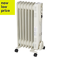 Electric 1500W Cream beige Oil-filled radiator