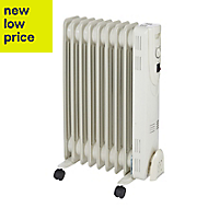 Electric 2000W Cream beige Oil-filled radiator