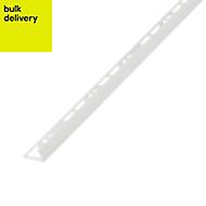 Diall White PVC Round External edge tile trim, 9mm