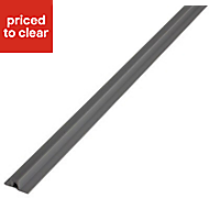 Diall Grey PVC Straight Tiling trim, 10mm