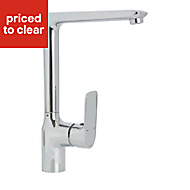 Cooke & Lewis Gurara Chrome effect Kitchen Monobloc Mixer tap