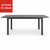 Sumatra Metal 6-8 seater Extendable dining table