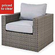 Sulana Grey Metal Garden armchair