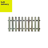 Blooma Premier lap Picket fence (W)1.8 m (H)0.8m