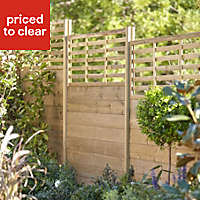 Blooma Neva Pine Slotted half fence post (H)2.4m (W)70 mm