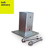 Blooma Galvanised Steel Fence post support plate (L)45mm (W)45mm