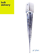 Blooma Galvanised Steel Fence post support spike (L)45mm (W)45mm