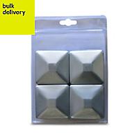 Blooma Steel Post cap (L)71mm (W)71mm