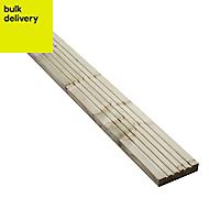 GoodHome Madeira Spruce Deck board (L)2.4m (W)120mm (T)24mm