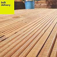 Blooma Madeira Value Brown Softwood Deck board (T)24mm (W)120mm (L)2400mm