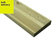 Nevou Premium Softwood Deck board (T)28mm (W)144mm (L)2400mm