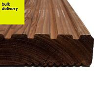 Blooma Nevou Premium Spruce Deck board (L)4.8m (W)144mm (T)27mm