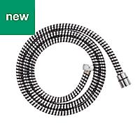 Cooke & Lewis Black & silver PVC Shower hose 1.5m