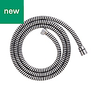 Cooke & Lewis Black & silver PVC Shower hose 1.75m