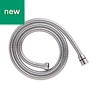 Cooke & Lewis Chrome effect Stainless steel Shower hose 1.5m