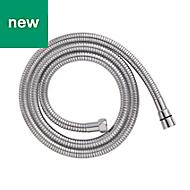 Cooke & Lewis Chrome effect Brass Stretch shower hose 2m