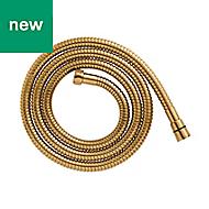 Cooke & Lewis Gold effect Brass Stretch shower hose 1.75m