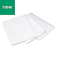 B&Q Polythene Dust sheet (L)4m (W) 5 m, Pack of 3