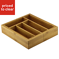 Cooke & Lewis Bamboo Extendable Cutlery Tray