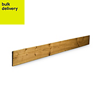 Blooma Treated Timber Feather edge fence board (L)1.8m (W)125mm (T)11mm, Pack of 8