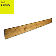Blooma Treated Timber Feather edge fence board (L)1.8m (W)100mm (T)11mm, Pack of 10