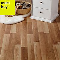 GoodHome Goldcoast Natural Oak effect Laminate flooring, 2.47m²