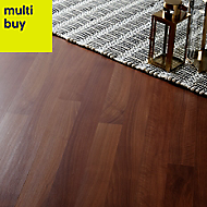 GoodHome Geraldton Natural Walnut effect Laminate flooring, 2.47m²
