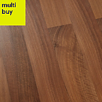 GoodHome Geraldton Natural Walnut effect Laminate flooring, 2.47m²