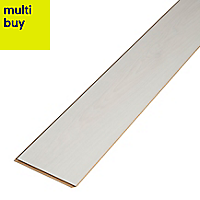 GoodHome Ballarat White Oak effect Laminate flooring, 2.47m²