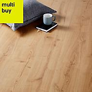 GoodHome Mackay Natural Oak effect Laminate flooring, 2.47m²