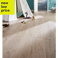 GoodHome Gladstone Natural oak effect Laminate flooring, 2m²