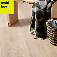 GoodHome Gawler Natural Ash effect Laminate flooring, 2.06m²