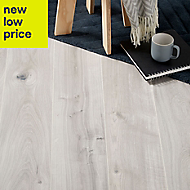 GoodHome Gladstone Grey Oak effect Laminate flooring, 2m²