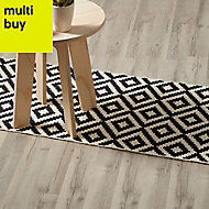GoodHome Ballapur Grey Oak effect Laminate flooring, 2m²