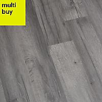 GoodHome Bairnsdale Dark grey Oak effect Laminate flooring, 2m²