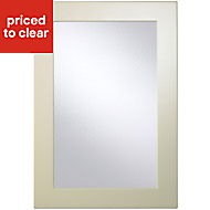 Cooke & Lewis Raffello High Gloss Cream Glazed Cabinet door (W)500mm