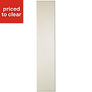 Cooke & Lewis Raffello High Gloss Cream Standard Cabinet door (W)150mm
